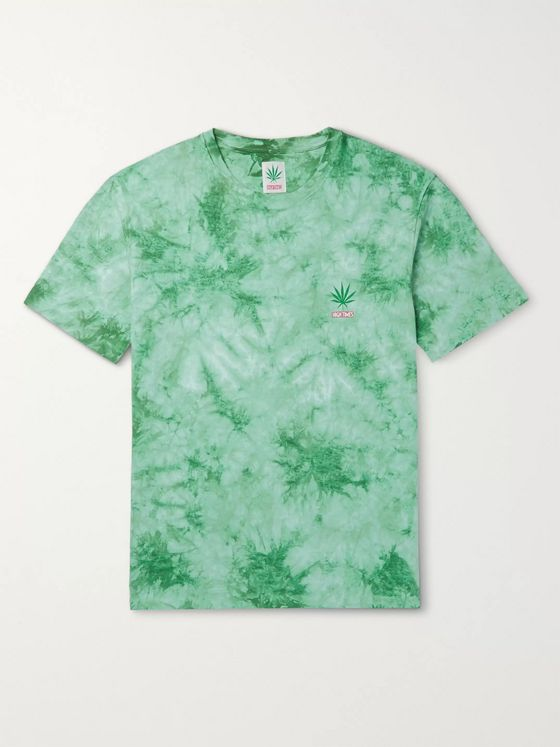 Wacko Maria + High Times Tie-Dyed Cotton-Jersey T-Shirt