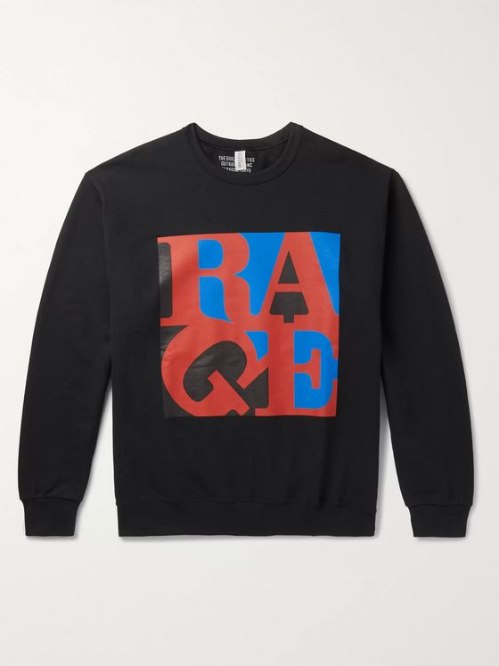 Wacko Maria + Rage Against The Machine Printed Fleece-Back Cotton-Blend Jersey Sweatshirt