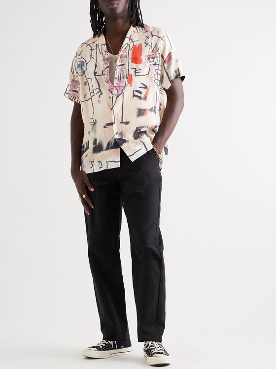 Wacko Maria + Basquiat Camp-Collar Printed Woven Shirt