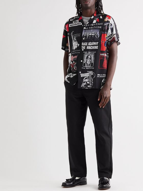 Wacko Maria + Rage Against the Machine Camp-Collar Printed Woven Shirt