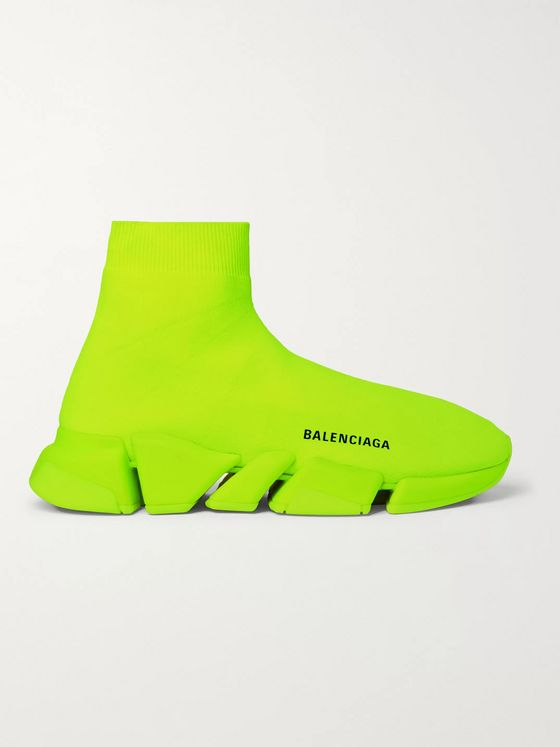 BALENCIAGA Speed 2.0 Stretch-Knit Slip-On Sneakers