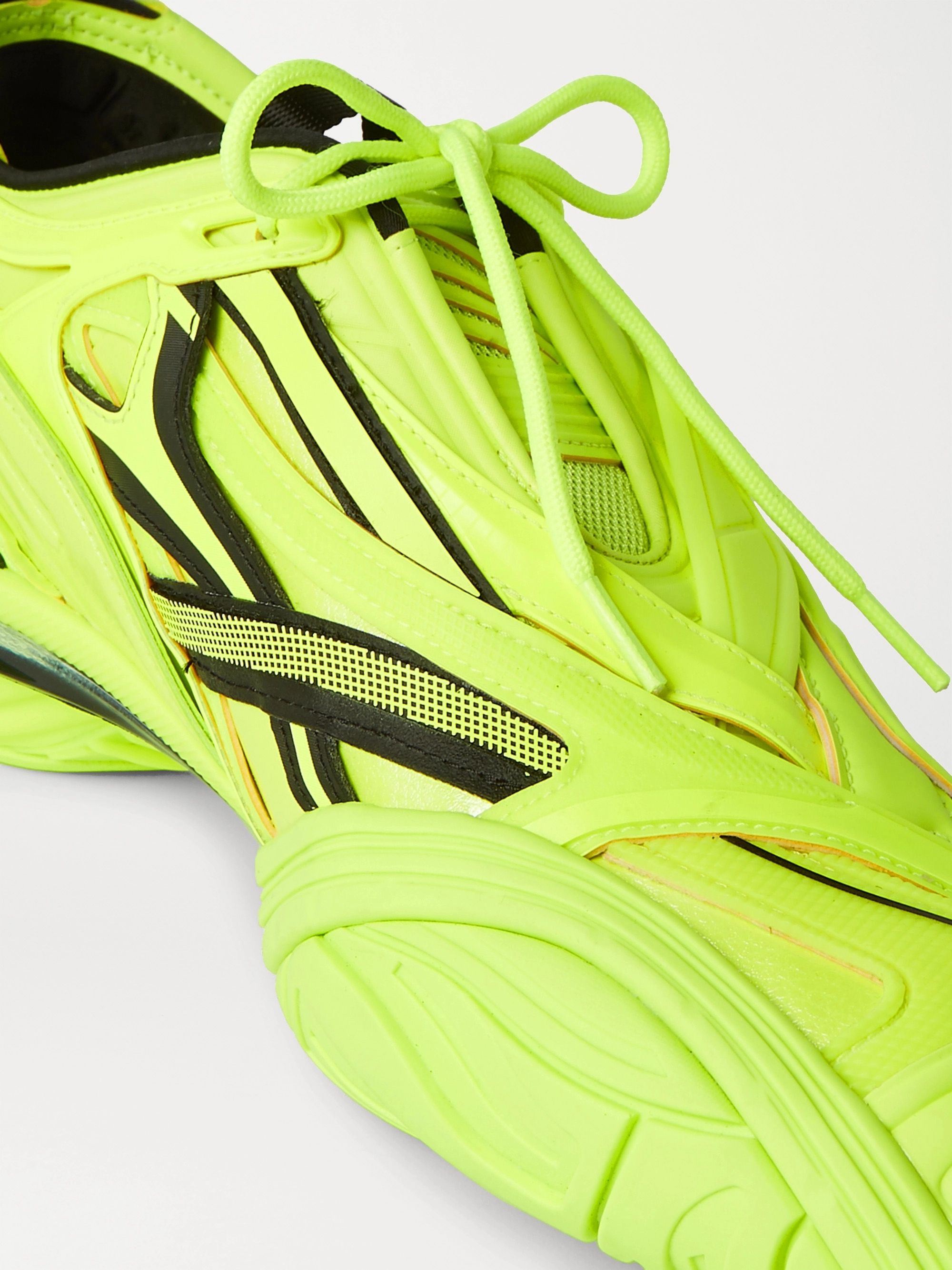 Yellow Tyrex Rubber, Mesh And Faux Leather Sneakers | Balenciaga