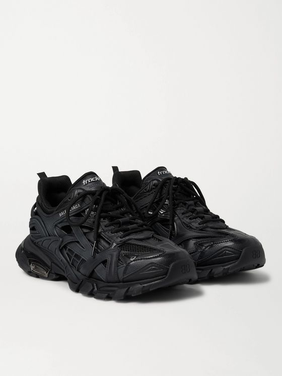 Balenciaga Track.2 Nylon, Mesh and Rubber Sneakers