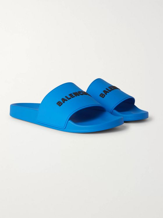 Balenciaga Logo-Detailed Rubber Slides