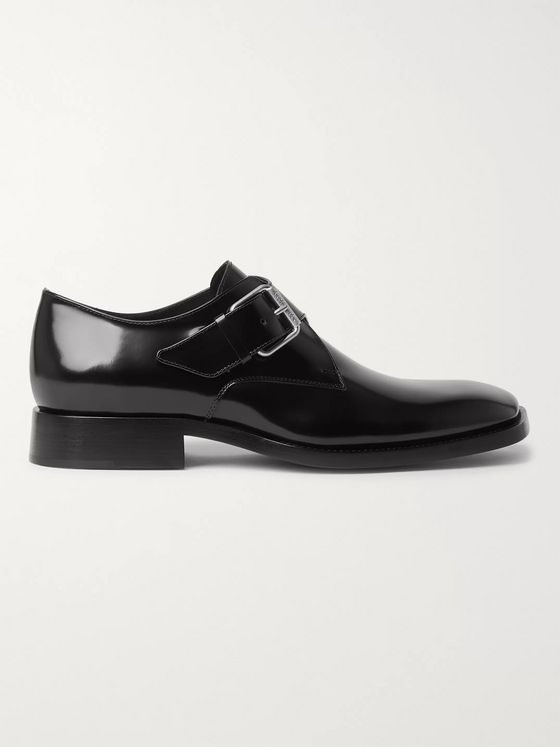 BALENCIAGA Patent-Leather Monk-Strap Shoes