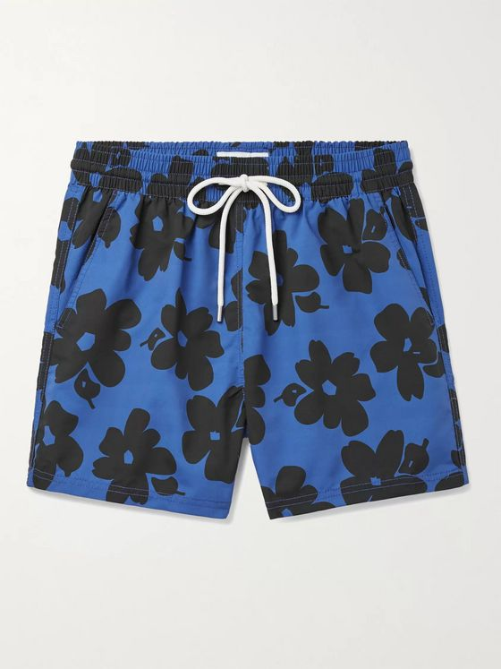 Atalaye Beaurivage Short-Length Floral-Print Swim Shorts