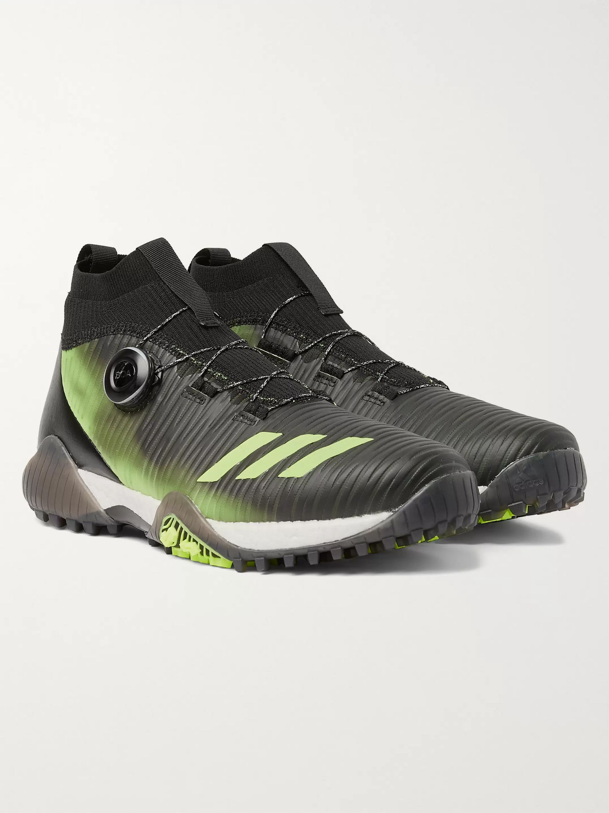Adidas Golf CodeChaos Boa Coated-PrimeKnit and Faux Leather Golf Shoes