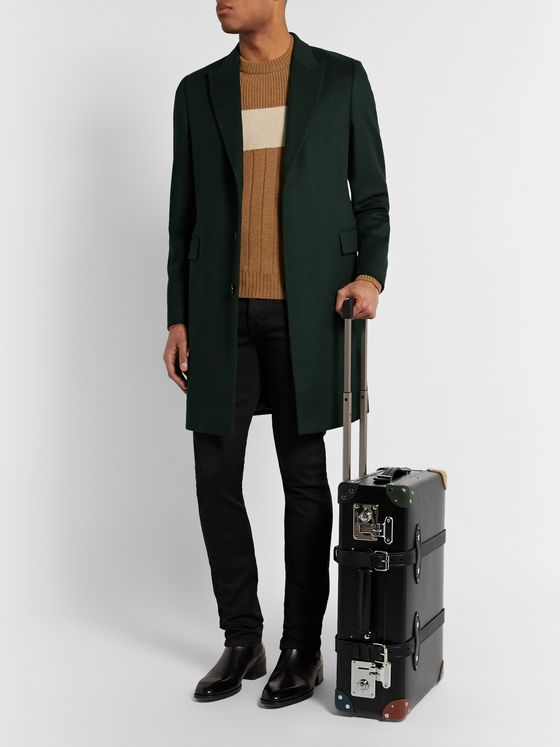 "Globe-Trotter + Paul Smith 20"" Leather-Trimmed Trolley Case"