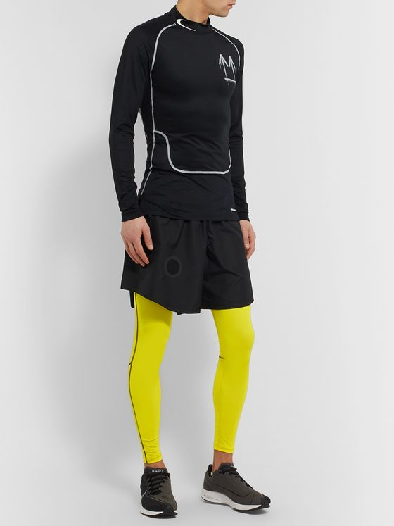 Nike Running + Off-White NRG Pro Logo-Print Stretch-Jersey Compression Tights