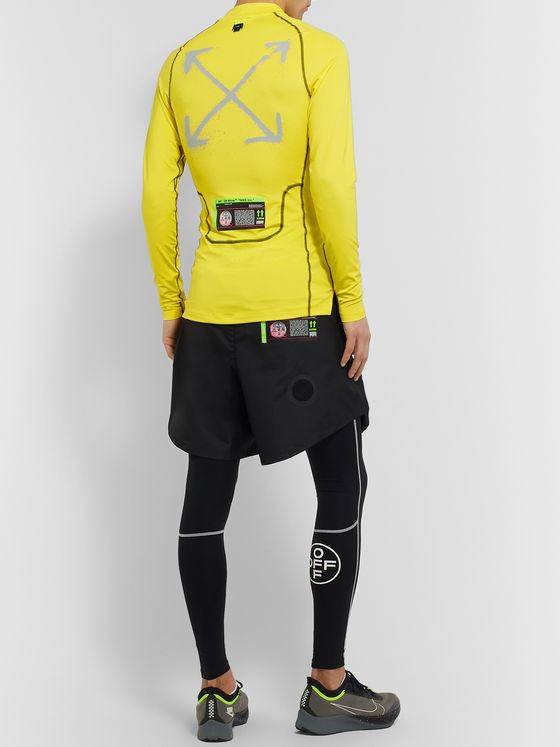 Nike Running + Off-White NRG Pro Logo-Print Stretch-Jersey Running Top
