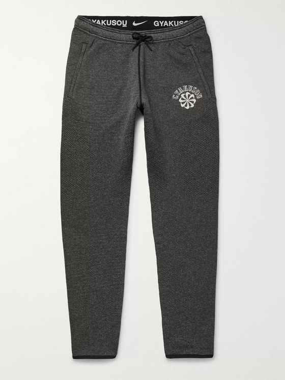 Nike x Undercover + GYAKUSOU NRG Na Kyma Tapered Logo-Print Stretch-Knit Sweatpants