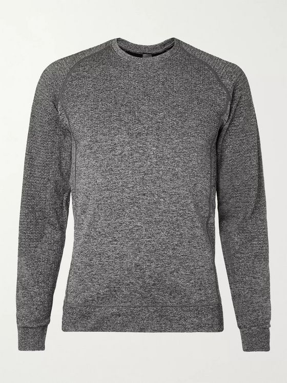 Lululemon Engineered Warmth Slim-Fit Mélange Stretch-Knit T-Shirt