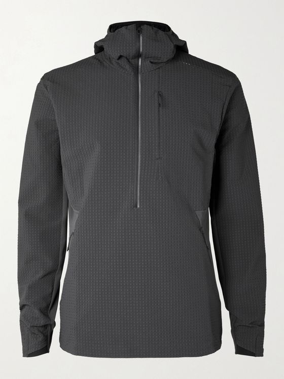 LULULEMON Cold Terrain Recycled Stretch-Shell Half-Zip Hooded Jacket