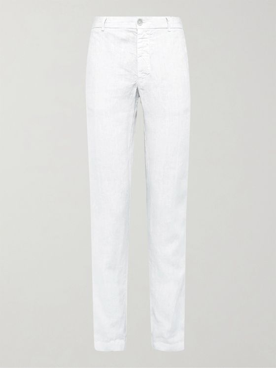 120% Slim-Fit Linen Trousers