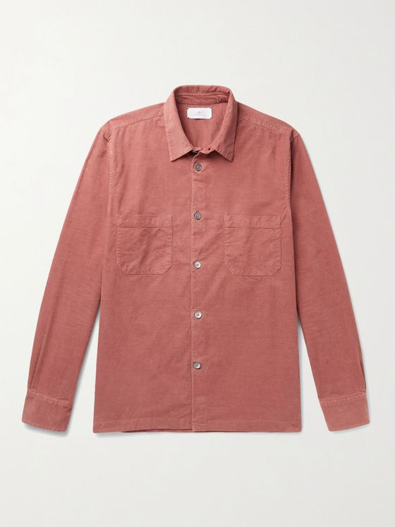MR P. Stretch-Cotton Needlecord Shirt