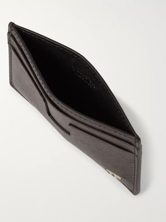 TOM FORD Logo-Embellished Textured-Leather Cardholder