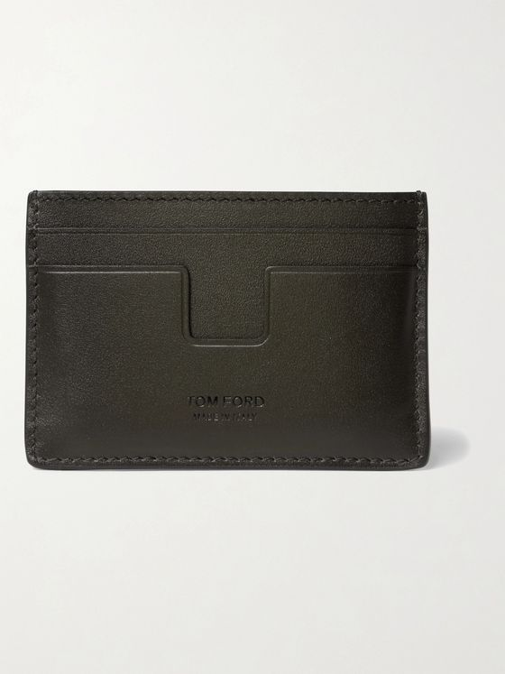 TOM FORD Logo-Debossed Leather Cardholder