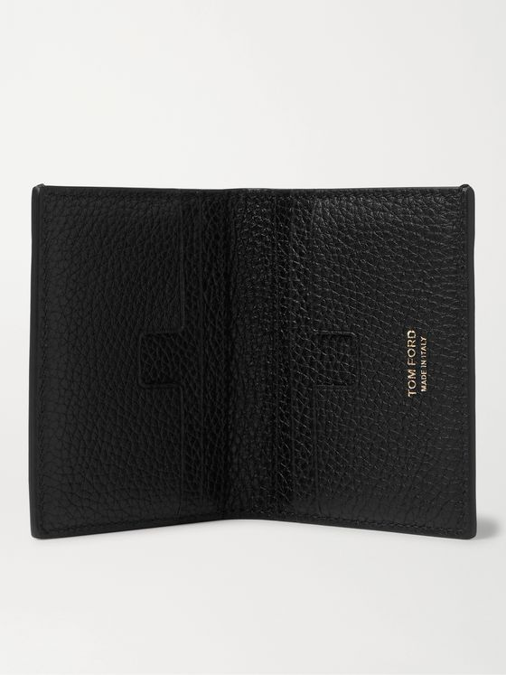 TOM FORD Pebble-Grain Leather Bifold Cardholder