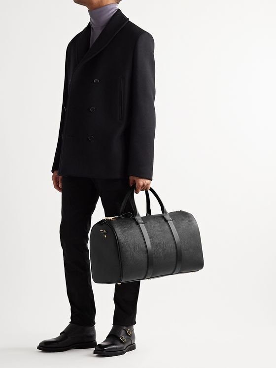 TOM FORD Buckley Pebble-Grain Leather Holdall