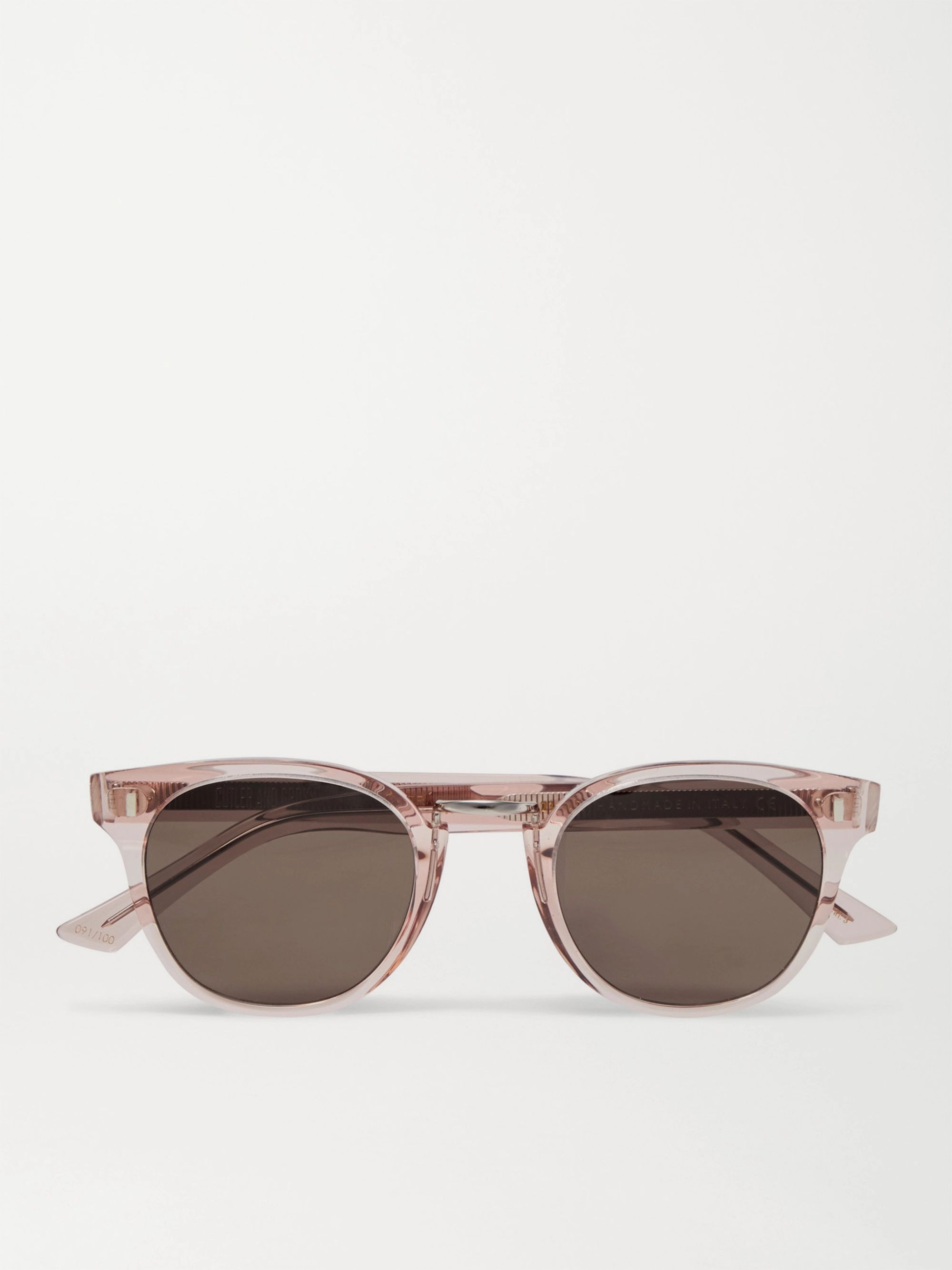 Cutler and Gross Round Frame Acetate Sunglasses