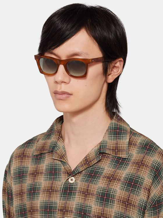 Kirk Originals Erno Square-Frame Acetate Polarised Sunglasses