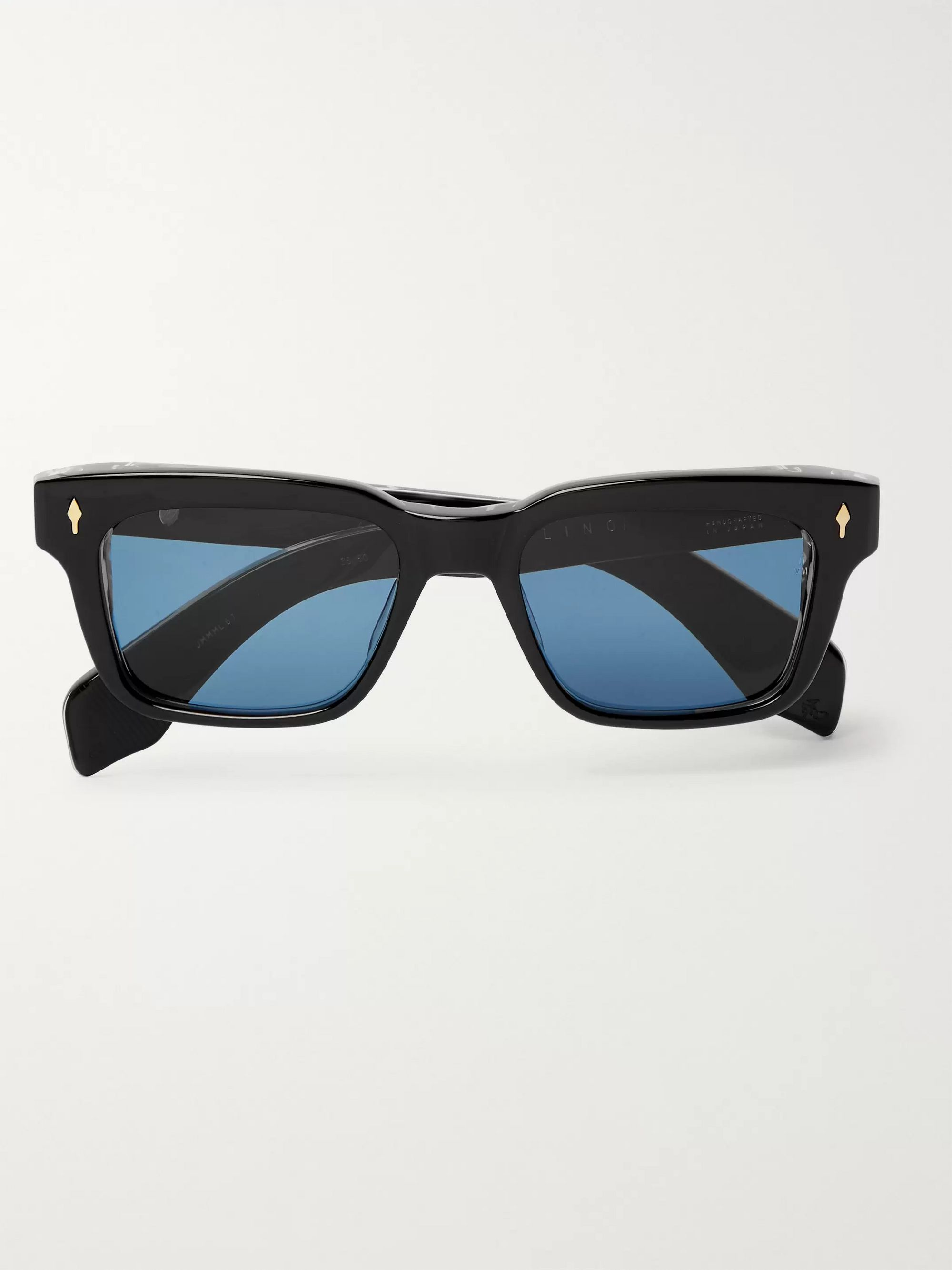 Jacques Marie Mage Molino Square-Frame Acetate and Gold-Tone Sunglasses