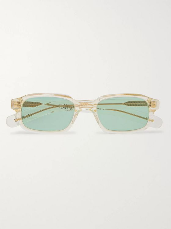 FLATLIST Hanky Rectangle-Frame Acetate Sunglasses