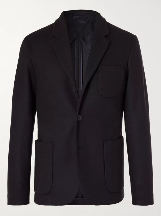 MR P. Unstructured Virgin Wool-Blend Jersey Blazer