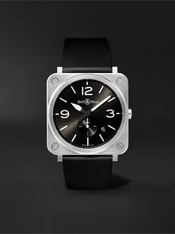 Bell & Ross BR S 39mm Steel and Rubber Watch, Ref. No. BRS‐BLC‐ST