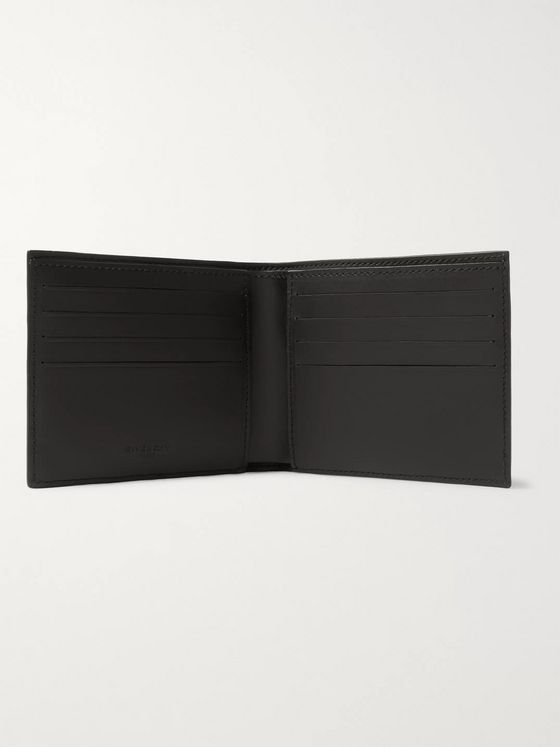Givenchy Logo-Print Coated Canvas and Leather Billfold Wallet