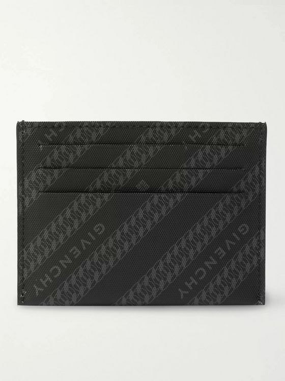 GIVENCHY Logo-Print Coated-Canvas Cardholder