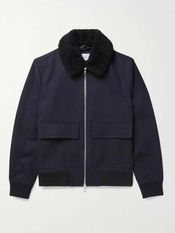 MR P. Shearling-Trimmed Cotton-Blend Twill Blouson Jacket