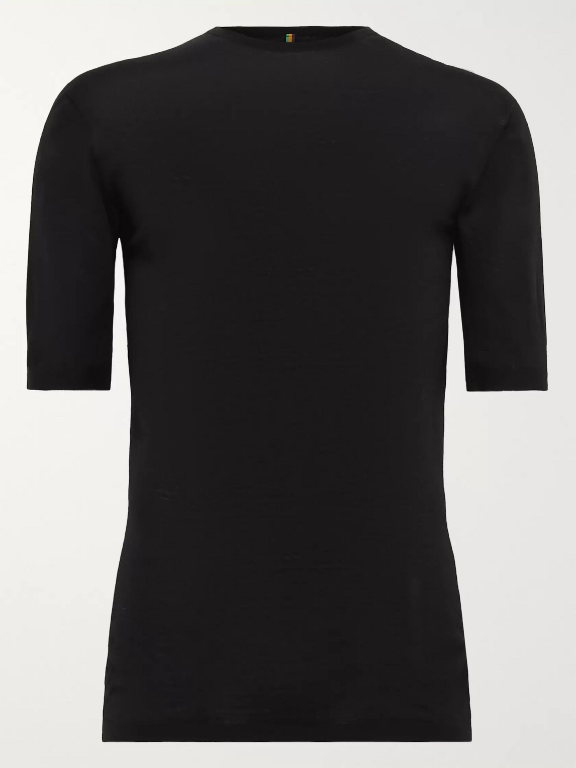Iffley Road Exmoor Merino Wool Base Layer In Black