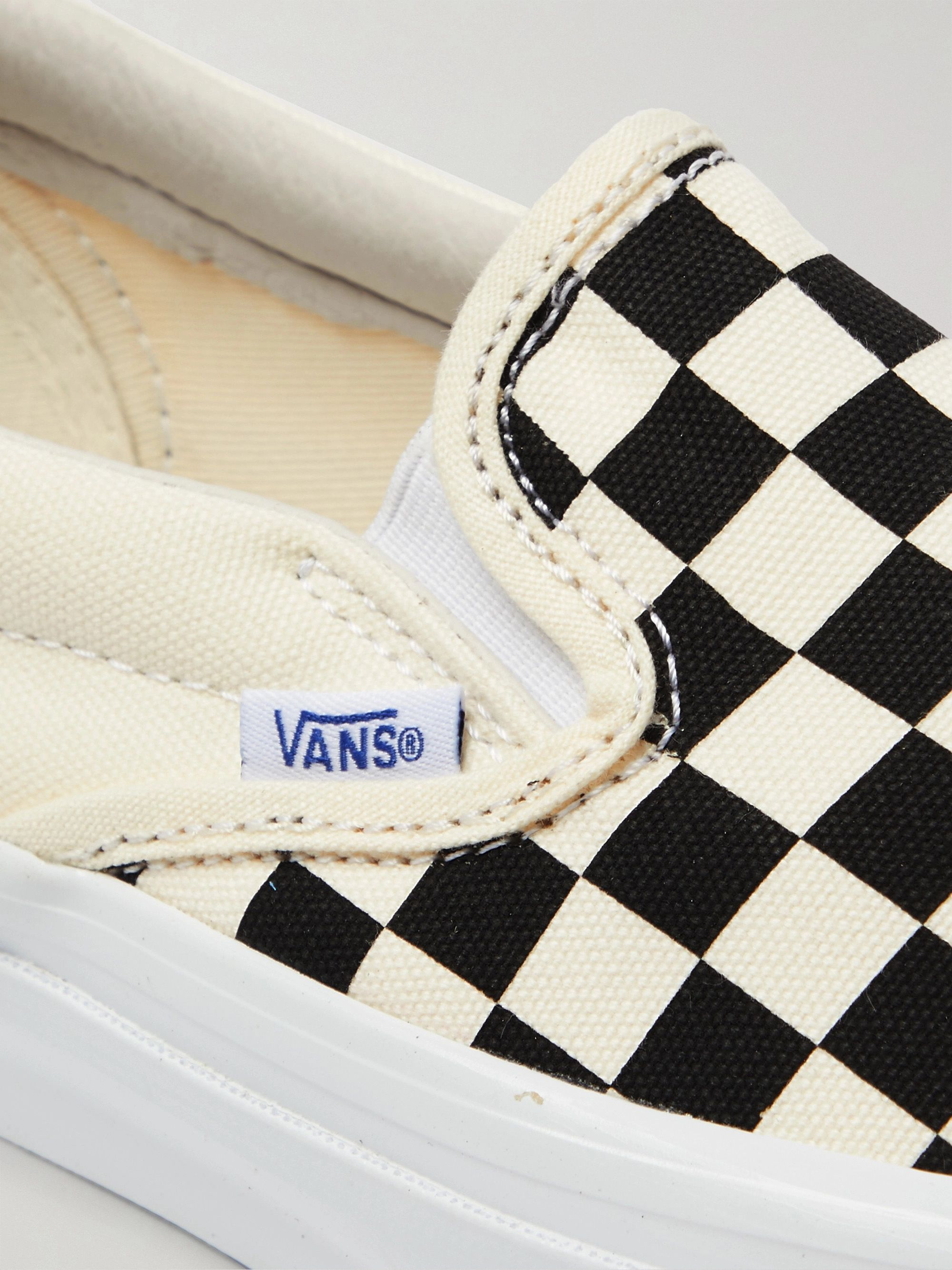 Vans OG Classic LX Checkerboard Canvas Slip-On Sneakers