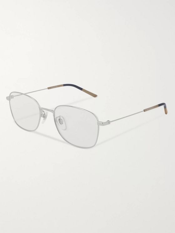 Gucci Square-Frame Silver-Tone Optical Glasses