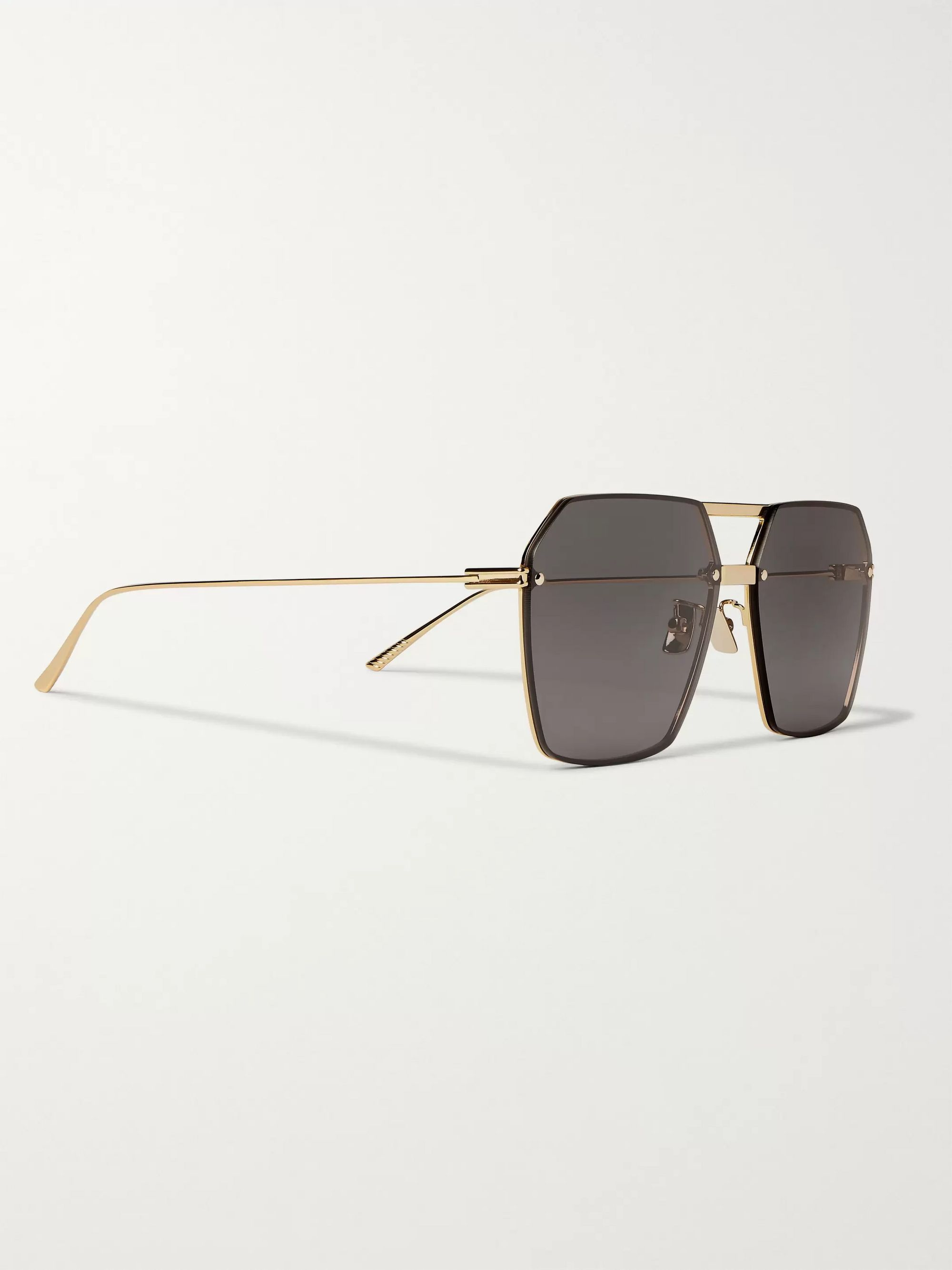 Bottega Veneta Aviator-Style Gold-Tone Sunglasses