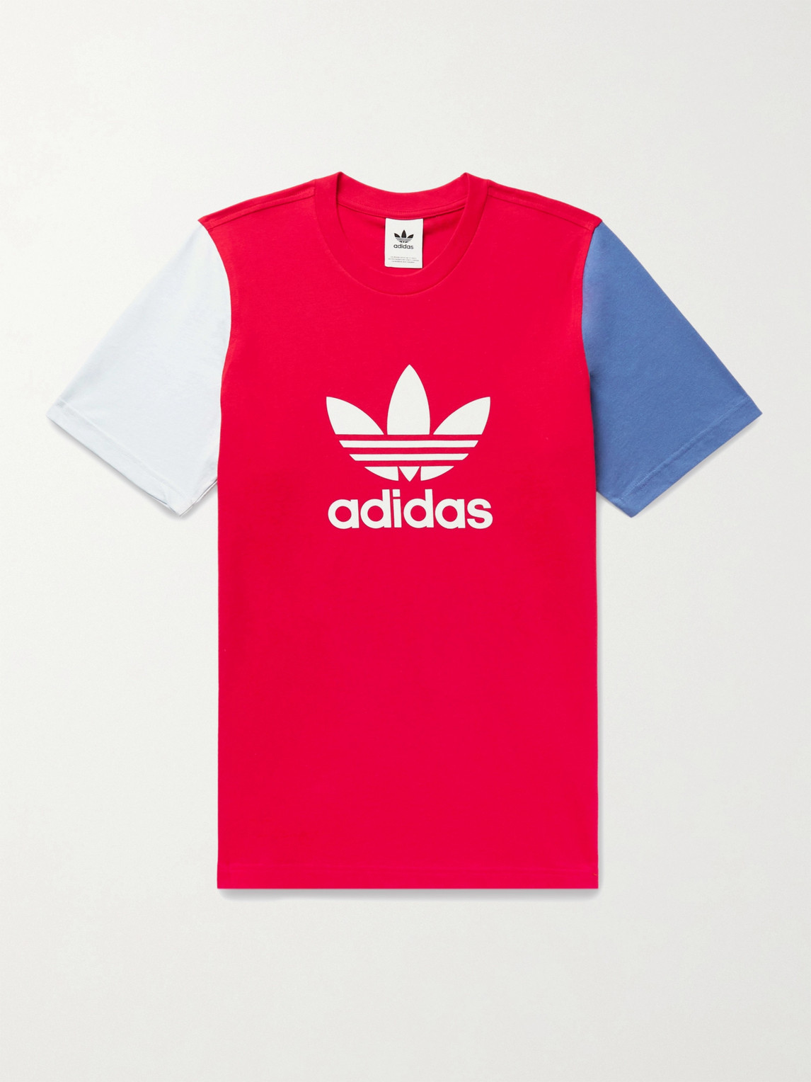 Adidas Originals COLOR-BLOCK LOGO-PRINT COTTON-JERSEY T-SHIRT