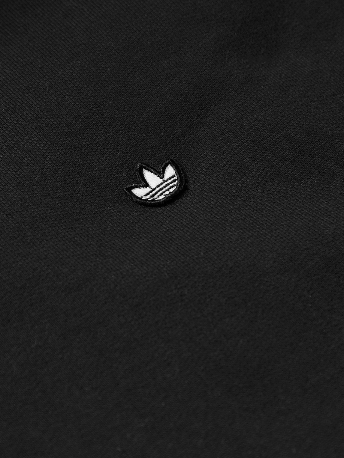 ADIDAS ORIGINALS Hoodies ADICOLOR PREMIUM LOGO-APPLIQUÉD ORGANIC LOOPBACK COTTON-JERSEY HOODIE