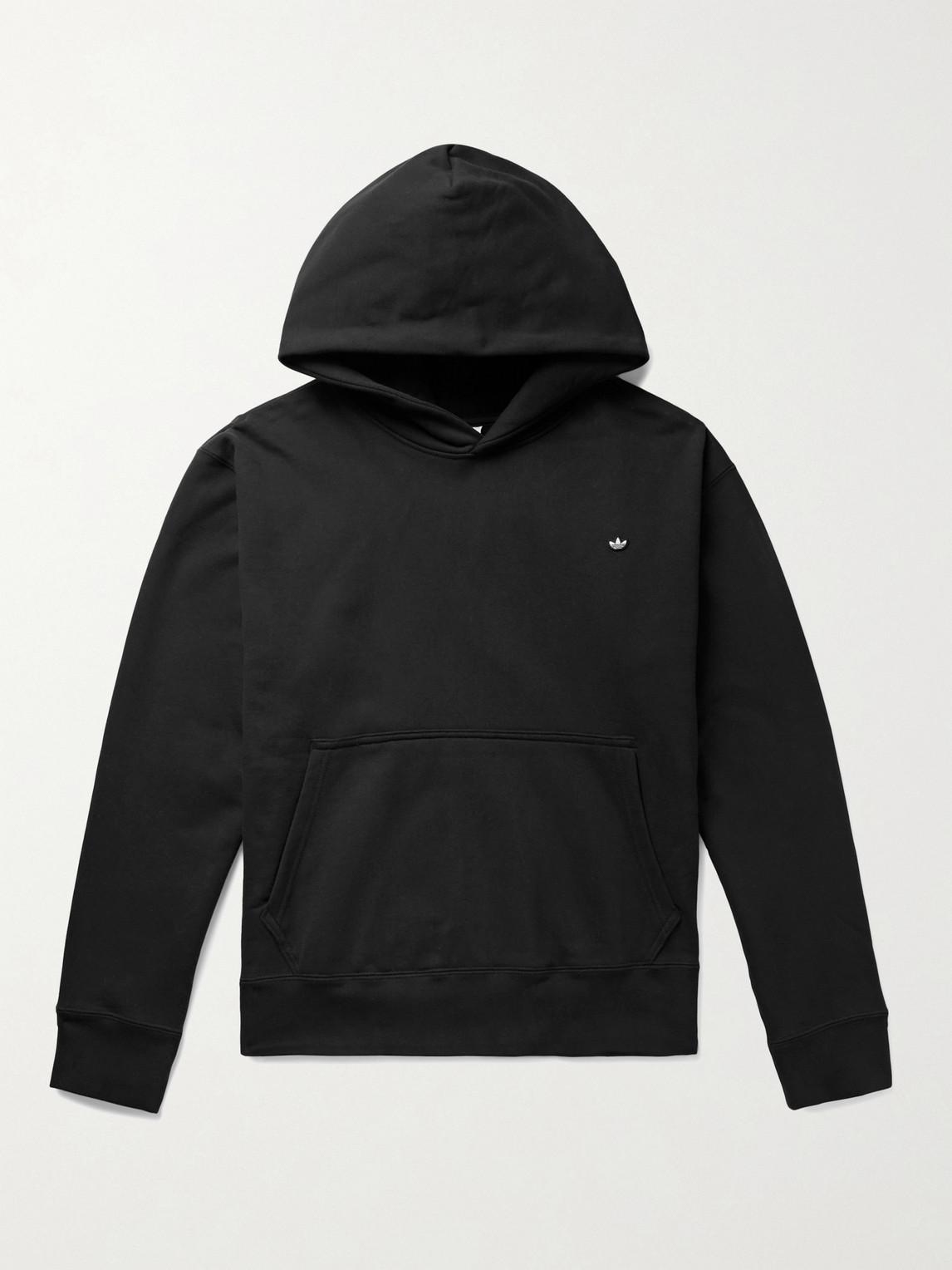 Adidas Originals ADICOLOR PREMIUM LOGO-APPLIQUÉD ORGANIC LOOPBACK COTTON-JERSEY HOODIE