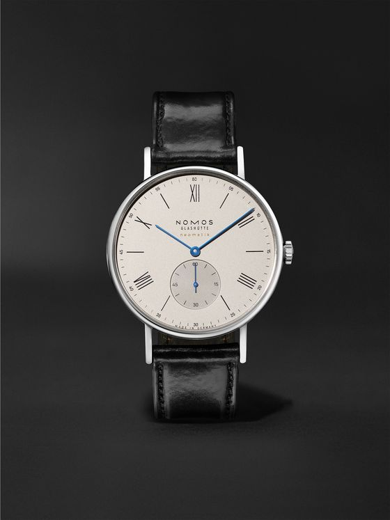 NOMOS GLASHÜTTE Ludwig Neomatik 39 Limited Edition Automatic 38.5mm Stainless Steel and Leather Watch, Ref. No. 250