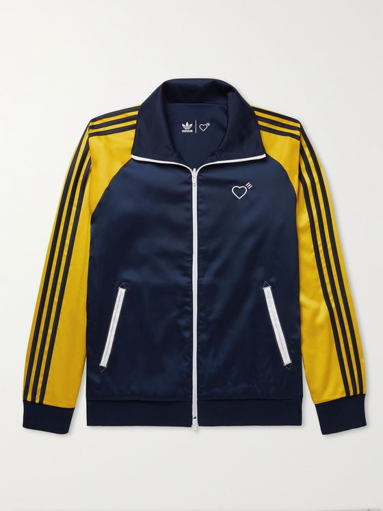 ADIDAS CONSORTIUM + Human Made Firebird Reversible Logo-Embroidered Tech-Jersey Track Jacket