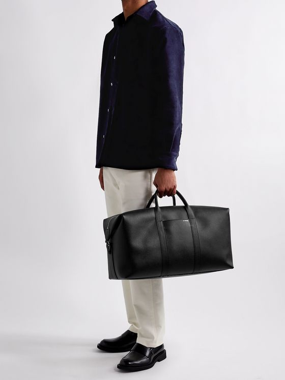 VALEXTRA Textured-Leather Holdall