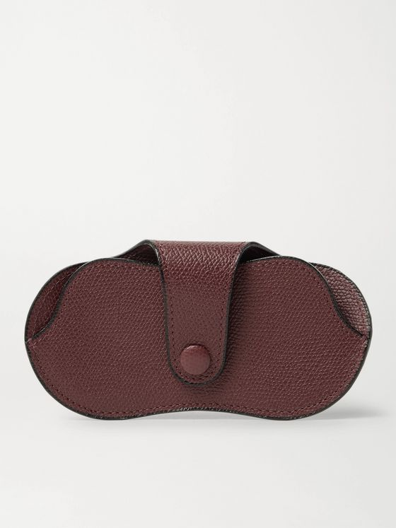 VALEXTRA Pebble-Grain Leather Sunglasses Case