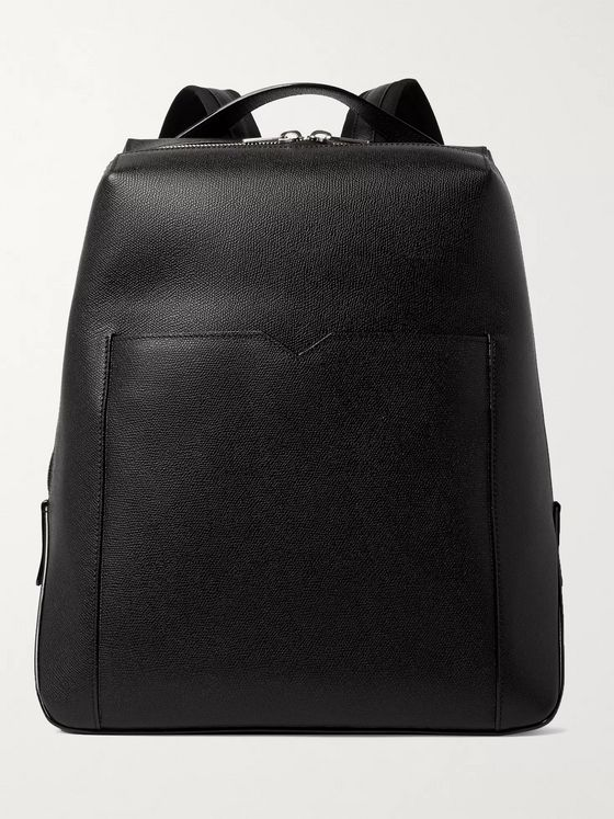 Valextra Textured-Leather Backpack