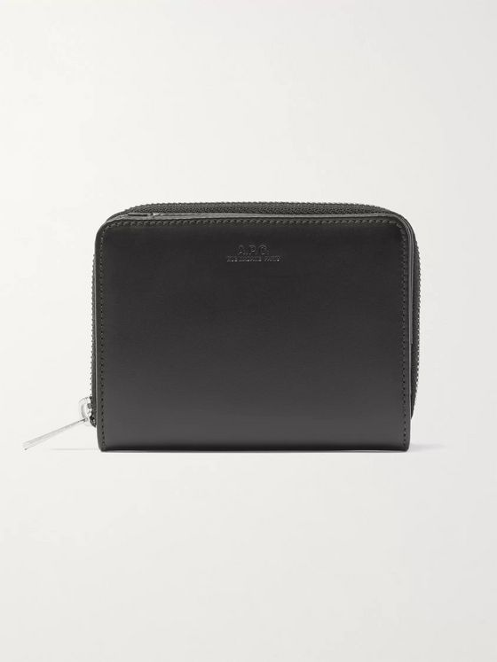 A.P.C. Emmanuel Leather Zip-Around Wallet