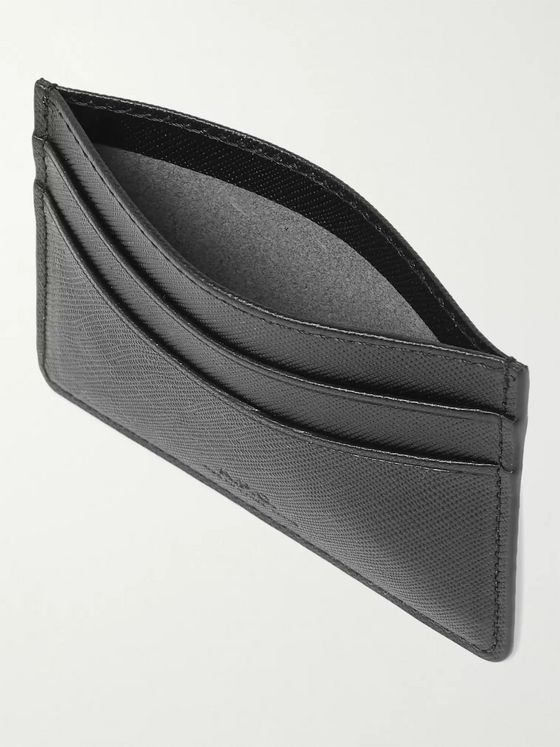 A.P.C. Andre Cross-Grain Leather Cardholder