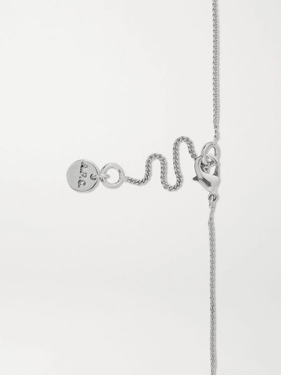 A.P.C. Logo-Engraved Silver-Tone Necklace