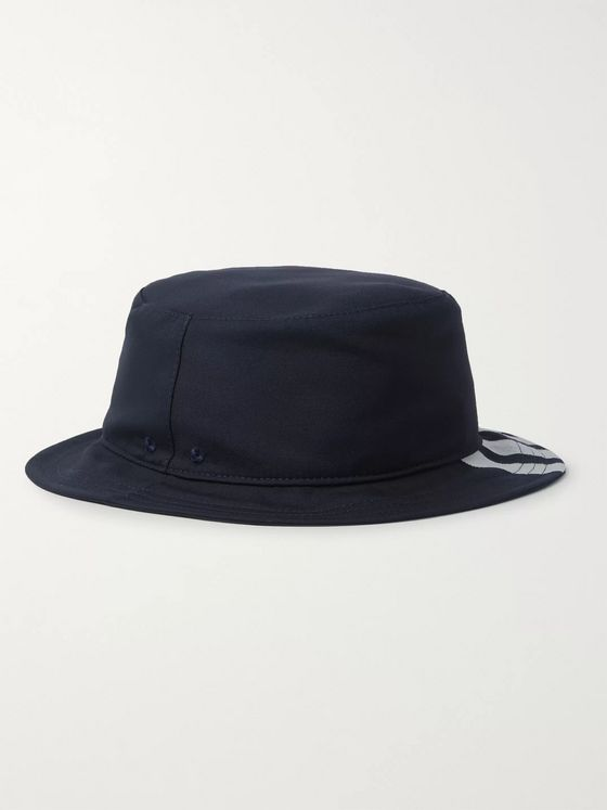 Thom Browne Grosgrain-Trimmed Striped Wool Bucket Hat