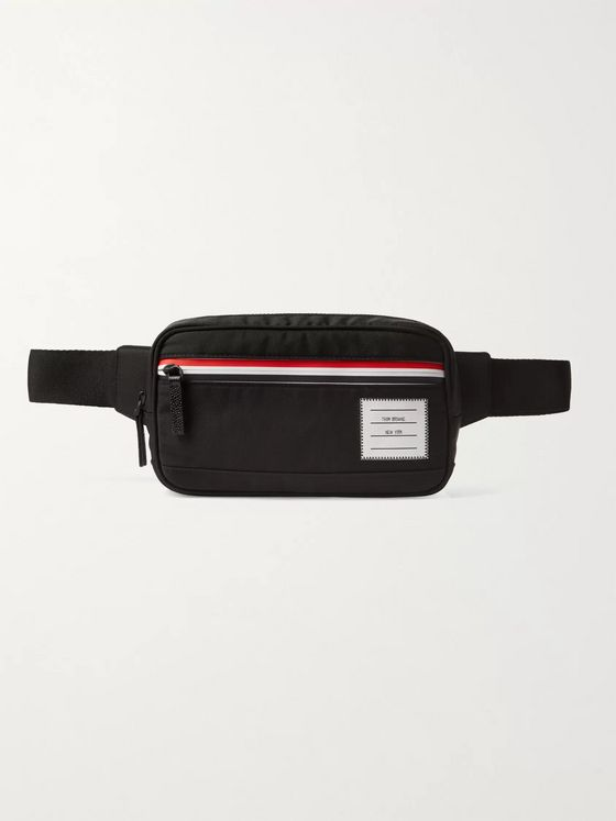 Thom Browne Leather-Trimmed Canvas Belt Bag