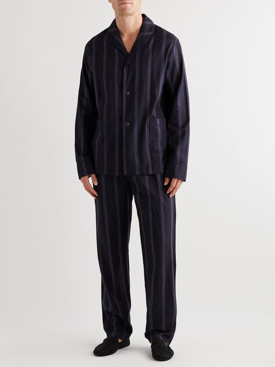 Paul Smith Piped Striped Cotton Pyjama Set